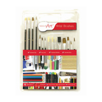 Artist Paint Brush Set - Assorted Tips  Sizes - Premium Brushes Pack of 15