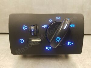 Ford Mondeo Mk3 Blue Led Auto Headlight Switch With Front & Rear Fogs 2001-2007
