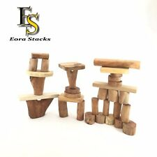 Wooden Blocks Set 32 pcs Imagination Creative Game Natural Kid Toys 3+