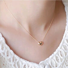New 18k Gold Plated Dainty Mini Love Heart Princess Necklace Choker Chain Gift