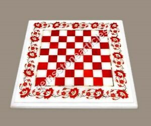Handmade Marble Chess Board Carnelian Stone Chess Board, Chess Board For Gift