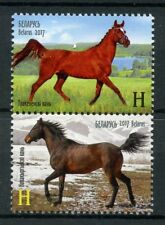 Belarus 2017 MNH Horses Joint Issue JIS Kyrgyzstan 2v Set Animals Stamps