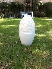 Handmade Mango Wood White Vase Modern Style  + Tracking Number