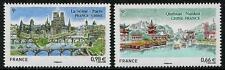 VILLES & Rivers Ponts Lot de 2 Timbres MNH 2014 France conjoint édition avec