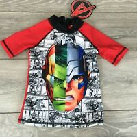 Official Marvel Avengers Kids Infant Swimm Top zip at Back 5 - 6 YRS A223-7