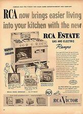 1954 vintage appliance AD RCA Estate Gas electric Ranges kitchen Stoves 072017