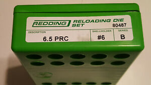 80487 REDDING 2-DIE FULL LENGTH DIE SET - 6.5 PRC - BRAND NEW - FREE SHIPPING