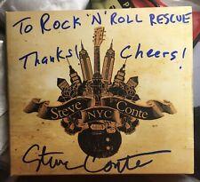 - STEVE CONTE - N.Y.C. - Autographed CD . new york dolls