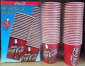 Getränke Cups Coca Cola Schachtel 50 Medizinbecher Karton Neu Diner Sammlung