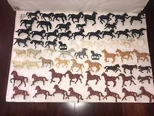 VINTAGE PLASTIC HORSE LOT OF 66 FIGURE PLAYSET WESTERN SOLDIER CALVARY RIDER