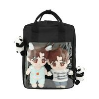 Lolita Girl Itabag Clear Canvas Transparent Cute Handbag Shoulder Bag Backpack