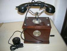 Telefon Tischapparat Kurbeltelefon Holzgehäuse ca. 1910-1930er Jahre Reichspost