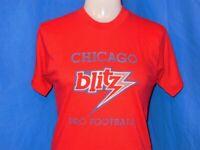 vintage 80s CHICAGO BLITZ USFL FOOTBALL SOFT THIN RED t-shirt XS