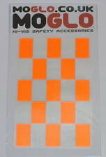 Reflective CHEQUERED FLAG chex stickers * 7 colours available