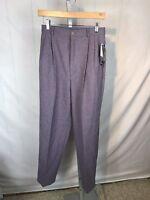 R75 NWT JOHNSON WOOLEN MILLS Green Wool Pants Made USA Women's 14 NOS