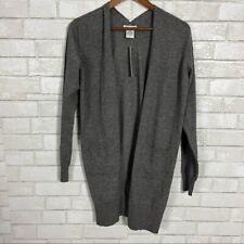 Womens Sweet Romeo Charcoal Grey Longline Cardigan Solid Print Duster Sweater
