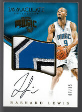 Rashard Lewis Autograph 4 Color Jumbo Logo Patch Relic 2016-17 Immaculate 7/35