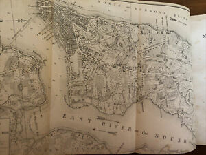 1861 New York City During The American Revolution With Map