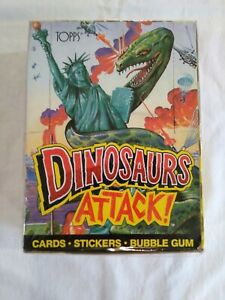 1988 Topps Dinosaurs Attack Trading Cards Box ~ 48 Wax Packs