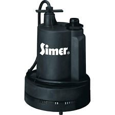 Simer 2355-04 Super Geyser 1/3 HP 1620 GPH Submersible Utility Water Pump