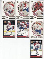 03/04 Pacific Private Stock Montreal Canadiens 7 card lot Garon Hossa Juneau +