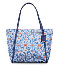 Tumi Q-TOTE Voyageur Nylon Bag Cayenne Blue Orange Tile Pattern 0494796CTP $245