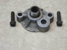 GM factory spin on oil filter adapter & bolts  w/ bypass valve 68 later Chevy V8