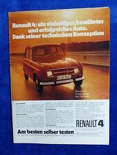 Renault 4 - Werbeanzeige Reklame Advertisement 1972 __ (736