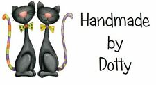 Personalised Mini Stickers labels x 65 - Handmade by - Pair of Lucky Black Cats