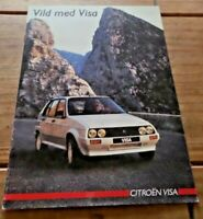 Citroen Visa & GTi Sales Brochure 1985 Dutch Text Classic French Car. Retro
