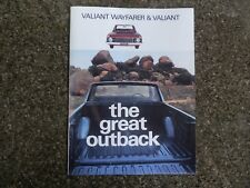 1969 VF CHRYSLER VALIANT WAYFARER UTE SALES  BROCHURE  100% GUARANTEE.