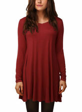 Rayon Long Sleeve Regular Size Tunic Tops for Women