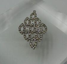 """Rhinestone/Crystal Pendant 1.75"""" Diamond Shaped Pendant"""