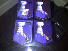 NEW YORK RANGERS Team Set Molson Coors Budweiser Panini Stanley Cup Banners