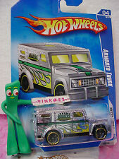 2009 Hot Wheels Armored Truck #110/190~Chrome w/Green Burnerz∞Hw City Works