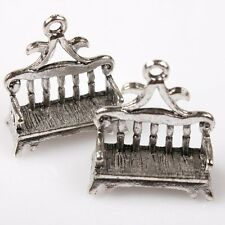 15pcs 144770 Hotsale Antique Silver Tone Park Rest Bench Charms Alloy Pendants