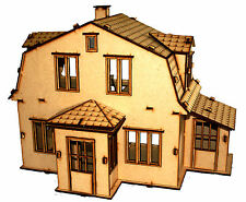 WOODEN PLAIN MDF CHILDRENS DOLLS HOUSE 3 CRAFT PAINT DECORATE TOY DIY