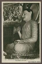 RPPC STATUE OF BUDDHA  ASOKARAMYA TEMPLE COLOMBO CEYLON