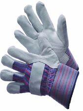 12 Pair Premium Leather Palm Work Gloves Safety Cuff Standard Shoulder Leather