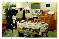Plain & Fancy Farm Postcard Pennsylvania Kitchen Amish Furniture Vintage Unposte