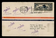 DR WHO 1928 HOUSTON TX POLITICAL SLOGAN CANCEL AIRMAIL TO MALONE NY f23340