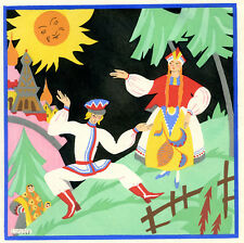 1930s French Pochoir Print Edouard Halouze Russian Folk Dance Traditional