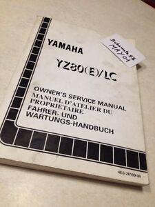 Yamaha YZ80LC E YZ80 YZ LC 80 80YZ 93 Manual Taller Manejo Manual de Taller