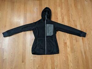Patagonia Womens R3 Regulator Hoody Jacket Reversible Waffle Full Zip Black S