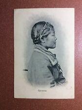 Tsarist Russia postcard 1917 Far East Sakhalin Orochenka woman Tungus-Manchurian