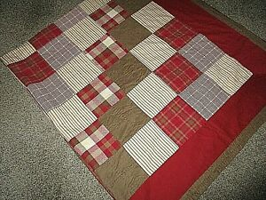 ***Woolrich*** Full/Queen Plaid--Patchwork Quilt  Pre-Owned