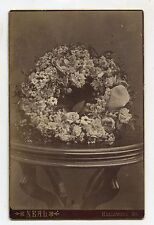 CABINET CARD,Vintage Photo,Funeral Flower Arrangement, Hallowell, Maine