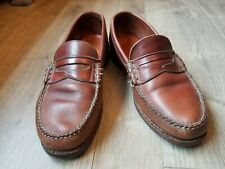 Dexter Italian Leather Hand Stitched Custom Vintage Loafers 8.5 M Great...