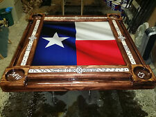 Texas Flag Domino Table & we add YOUR cupholder initials by Domino Tables by Art