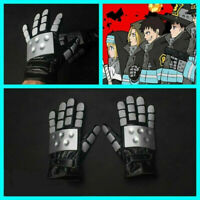 Anime Fire Force Enn Enn No Shouboutai Cosplay Gloves Prop PU Full Unsex Gift
